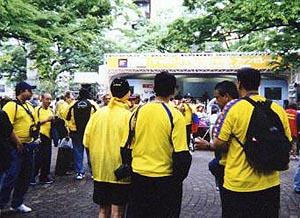W杯での札幌スナップ3-大通公園-つかの間のひととき