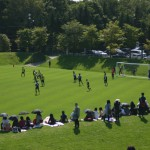札幌ドームスナップ:サブグラウンド練習風景