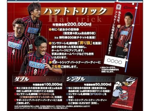2014年コンサドーレ札幌サポートシップパートナーの募集開始