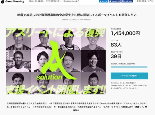 曽田雄志さんによる北海道胆振東部地震支援イベント「厚真っ子、全員集合!!」が開催